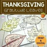 Thanksgiving Activity | Gratitude Leaves | Print and Digital
