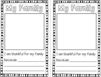 Thanksgiving Activity: I Am Thankful Booklet