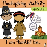 Thanksgiving Activity - I am Thankful for... Dollar Deal #