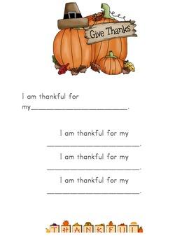 Thanksgiving Activity - K-3