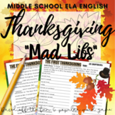 "Thanksgiving Writing Activity: ""Mad Libs"" / Story"