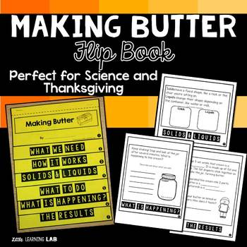Thanksgiving Activity Making Butter Flip Book