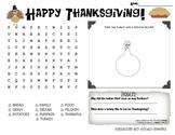Thanksgiving Activity Mat