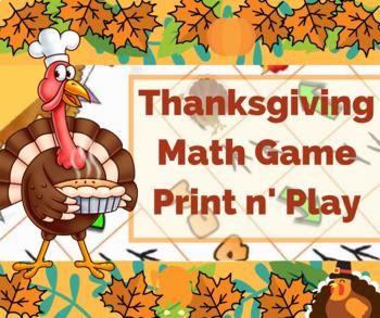 Thanksgiving Activity - Math