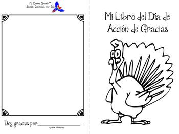 """Thanksgiving Activity - """"Mi Libro del Día de Acción de Gracias"""""""