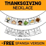 Thanksgiving Activity Necklace Craft