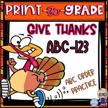 Thanksgiving Activity No Prep Print-Go-Grade