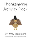 Thanksgiving Activity Pack