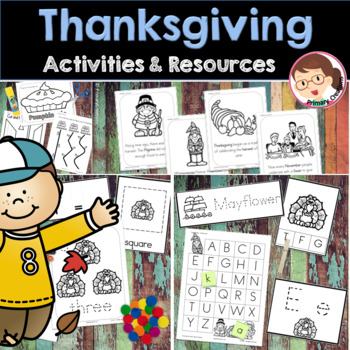 Thanksgiving Preschool and PreK Literacy and Maths Activities