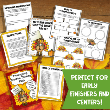 Thanksgiving Activity Pack: 20 Thanksgiving Activities or Thanksgiving Centers