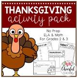 No Prep Thanksgiving Activity Pack