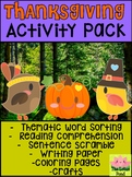 Thanksgiving Activity Pack Bundle - The Lotus Pond