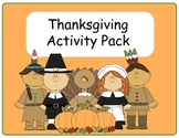 Thanksgiving Activity Pack -FREE-31 Pages!