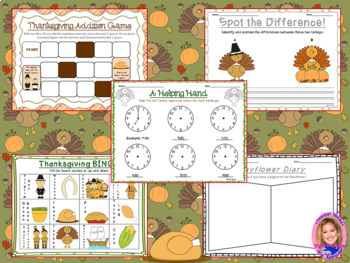 THANKSGIVING Activity Pack- Games, recipes, activities, and MORE!