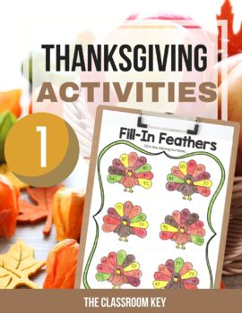 Thanksgiving Activities Packet for 1st Grade