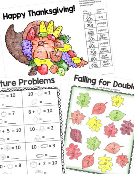 Thanksgiving Activities Packet for 2nd Grade
