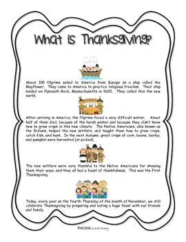 Thanksgiving Activity Packet (Bundle)