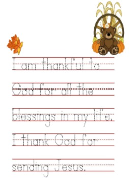Thanksgiving Activity Packet - Christian Themed