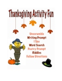 Thanksgiving Activity Packet - Elementary School