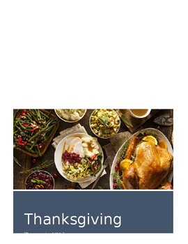 Thanksgiving Activity Packet - Secondary
