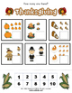 Thanksgiving Activity Packet / Worksheet Set + Flashcards