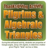 Thanksgiving Activity: Pilgrims & Algebraic Triangles
