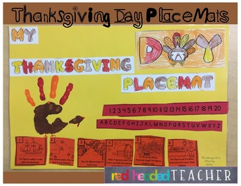 Thanksgiving Activity - Placemat Craft for Thanksgiving Dinner