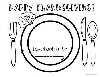 Thanksgiving Activity Placemats {EDITABLE FREEBIE}