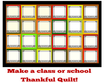 Thanksgiving Activity- Quilt Blocks