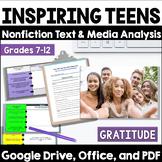Thanksgiving Activity:  Thankful Teens - Teens Give Back!