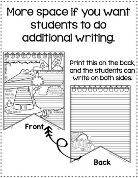 Thanksgiving Writing Activity: Banner with Thanksgiving Writing Prompts