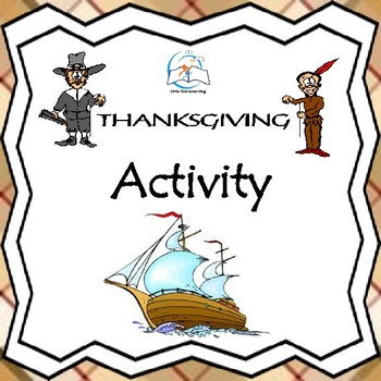 Thanksgiving Writing Activity: Mayflower Suitcase