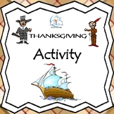 Mayflower Suitcase Thanksgiving Writing Activity