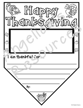 Thanksgiving Activities : Pennants