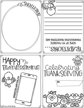 Thanksgiving Activity: Thanksgiving Writing Activity, Foldable Book