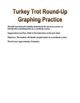 Thanksgiving Activity: Turkey Trot Round-Up Graphing Practice