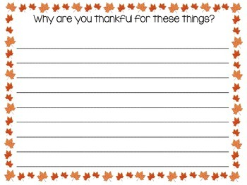 Thanksgiving Activity and Writing Prompts