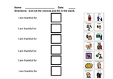 Thanksgiving Activity for Students with Autism
