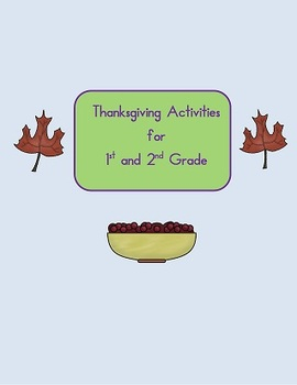 Thanksgiving Activity word search, a-b-c order, writing words 1st and 2nd grade