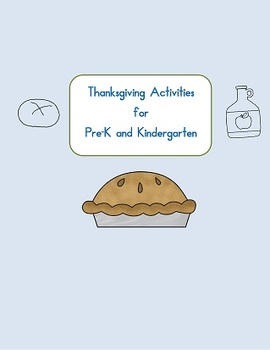 Thanksgiving Activity pages pre-k and kindergarten