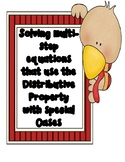 Thanksgiving Activity using Distributive Property with Special Cases