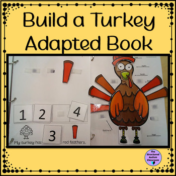 Thanksgiving Adapted Book Build a Turkey for Autism and Special Education