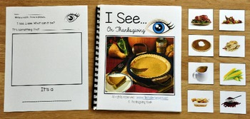 "Thanksgiving Adapted Book:  ""I See on Thanksgiving"""