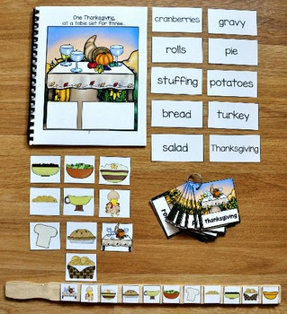 Thanksgiving Adapted Book and Vocabulary Activities