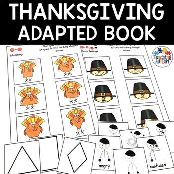 Thanksgiving Adapted Work Folder