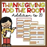 Thanksgiving Write the Room Math Addition to 20 Activity f