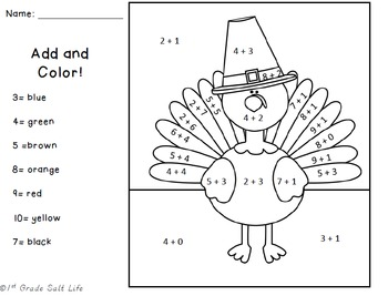 Thanksgiving Add and Color