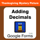 Thanksgiving: Adding Decimals - Mystery Picture - Google Forms