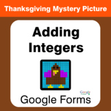 Thanksgiving: Adding Integers - Mystery Picture - Google Forms