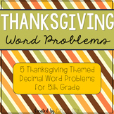 Thanksgiving: Adding and Subtracting Decimals
